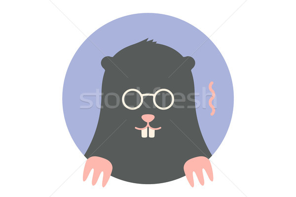 Icon of black Mole Stock photo © FoxysGraphic