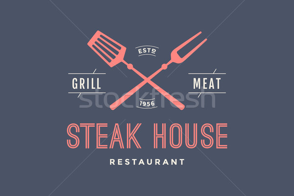 Label of Steak House Stock photo © FoxysGraphic