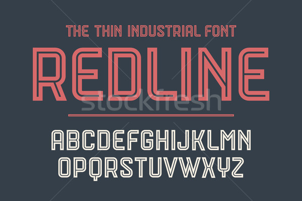 Alphabet and font Red Line with shadow Stock photo © FoxysGraphic