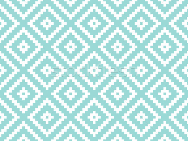 Seamless modern stylish texture and pattern. White repeating geometric tiles with dotted rhombus on  Stock photo © FoxysGraphic