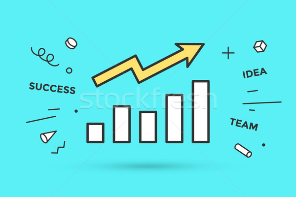 Icon of growth chart Stock photo © FoxysGraphic