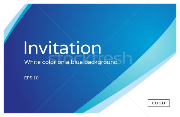 Modèle résumé modernes design texte invitation Photo stock © FoxysGraphic