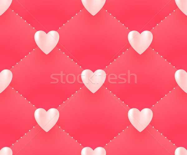 Witte harten roze Valentijn dag Stockfoto © FoxysGraphic