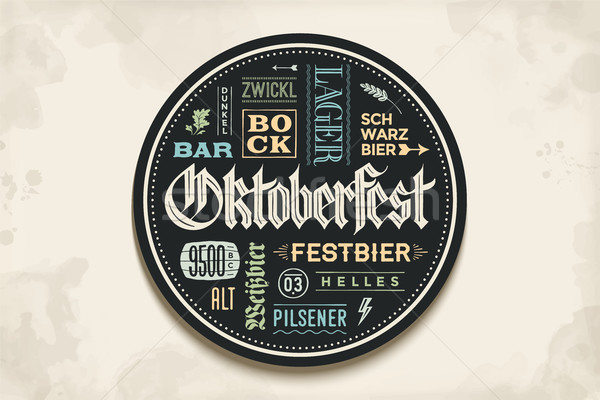 Beverage coaster with lettering for Oktoberfest Beer Festival Stock photo © FoxysGraphic