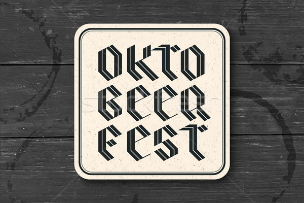 Stock photo: Coaster with lettering for Oktoberfest Beer Festival