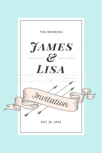 Vintage wedding invitation Stock photo © FoxysGraphic