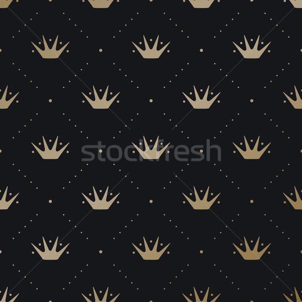 Oro rey corona oscuro negro Foto stock © FoxysGraphic