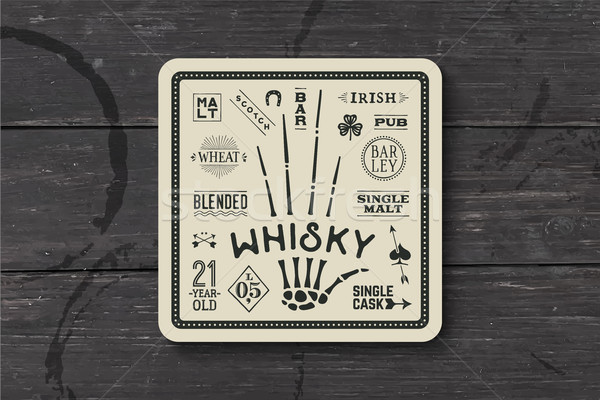 Coaster for whiskey and alcohol beverage Stock photo © FoxysGraphic