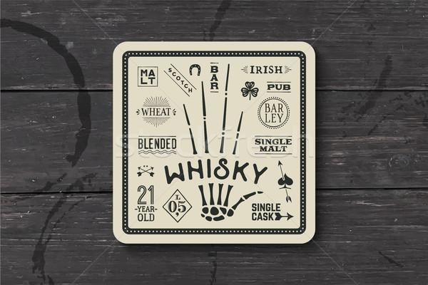 Koster viski alkol içkiler bağbozumu Stok fotoğraf © FoxysGraphic