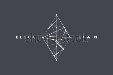 Template label for blockchain technology Stock photo © FoxysGraphic