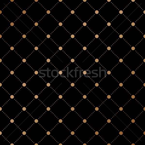 Arany fátyol végtelen minta fekete absztrakt háttér Stock fotó © FoxysGraphic