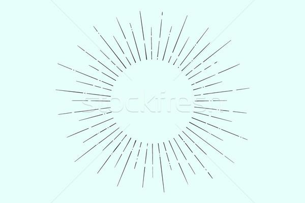 リニア 図面 光 日光 太陽 ヴィンテージ ストックフォト © FoxysGraphic