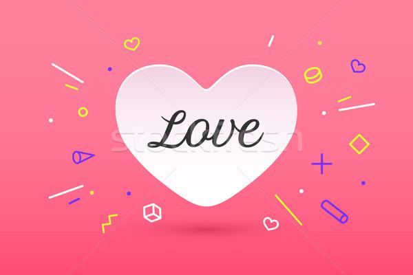 白 紙 中心 愛 アイコン バレンタイン ストックフォト © FoxysGraphic