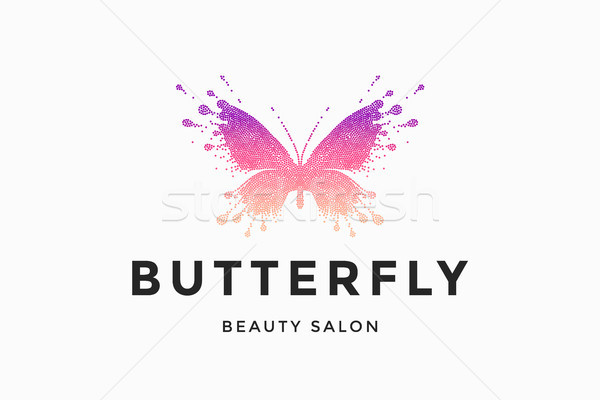 Label of beauty salon Butterfly Stock photo © FoxysGraphic