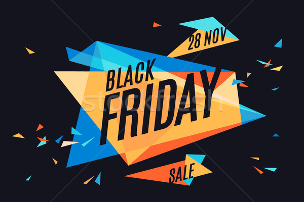 Colorful banner with text Black Friday Stock photo © FoxysGraphic