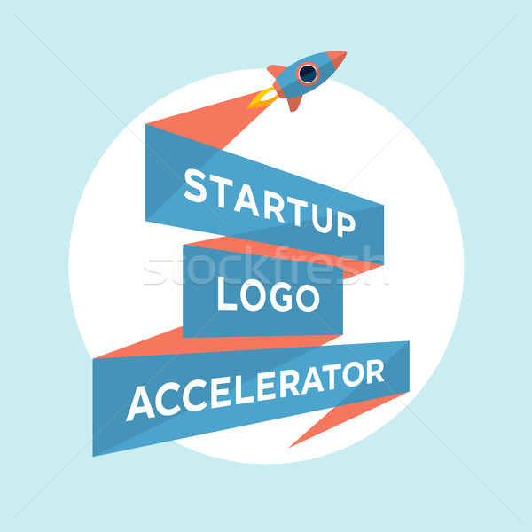 Concept design for start up project with inscription Startup Logo Accelerator Stock photo © FoxysGraphic