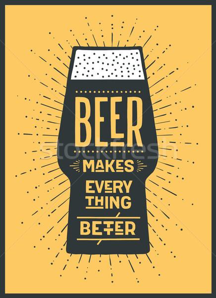 Poszter sör jobb szalag szöveg színes Stock fotó © FoxysGraphic