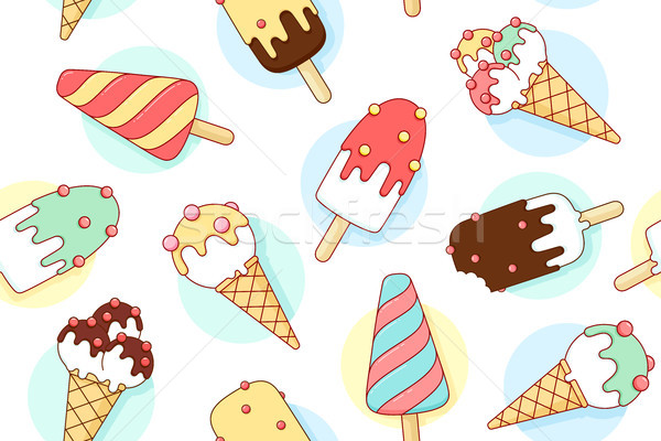 Coloré crème glacée différent pastel couleur Photo stock © FoxysGraphic