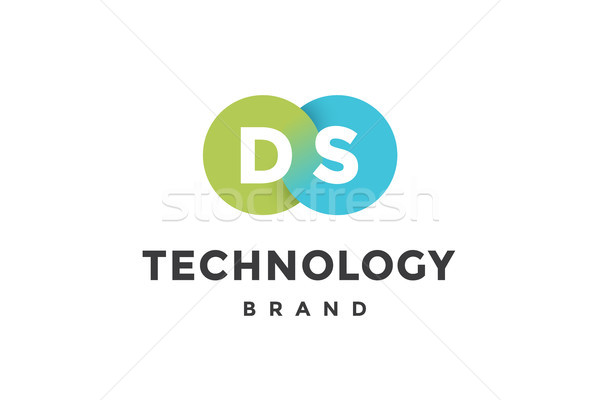 Emblem of business company with two circle Stock photo © FoxysGraphic