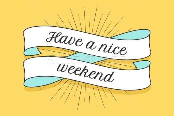 Lint opschrift mooie weekend kleurrijk vintage Stockfoto © FoxysGraphic