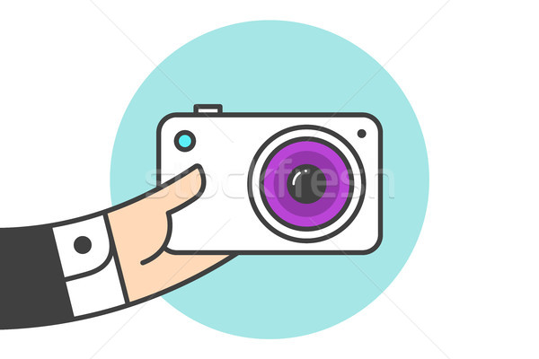 Icon of photo camera Stock photo © FoxysGraphic