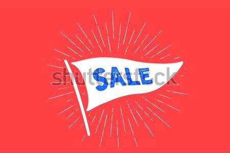 Zászló igen öreg iskola szalag szöveg Stock fotó © FoxysGraphic