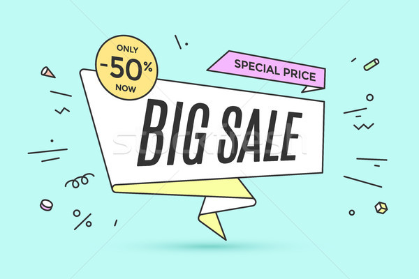 Ribbon banner with text Big Sale Stock photo © FoxysGraphic