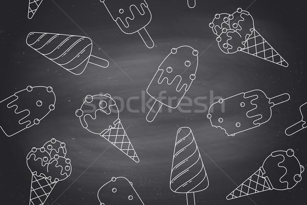 Ijs lijn grafische grafisch ontwerp Stockfoto © FoxysGraphic