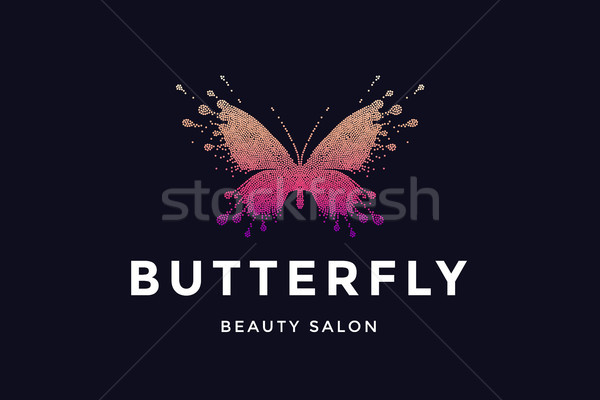 Butterfly. Logo for beauty salon Stock photo © FoxysGraphic