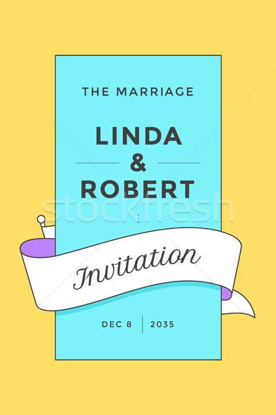 ヴィンテージ 結婚式招待状 結婚 挨拶 ポスト カード ストックフォト © FoxysGraphic