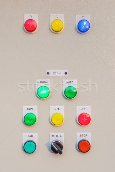 Control panel switch button for main engine room, can use to mon Stock photo © FrameAngel
