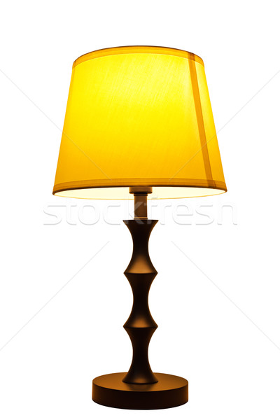 Old fashion table lamp isolated Stock photo © FrameAngel