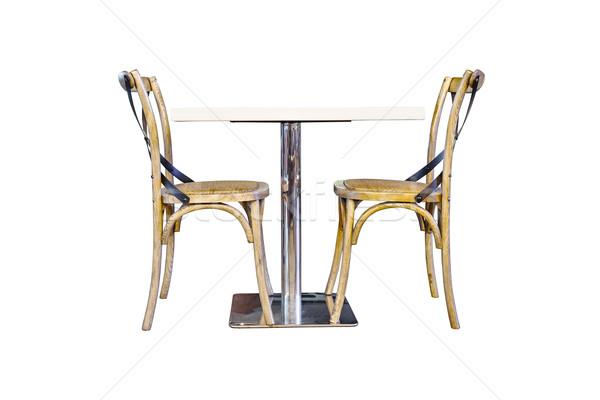 таблице два стульев белый компьютер домой Сток-фото © FrameAngel
