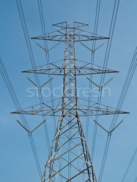 Poder polo luz metal azul Foto stock © FrameAngel