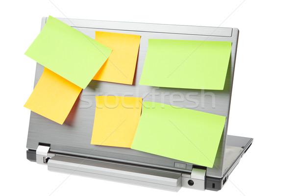 Laptop notebooka odizolowany biały działalności komputera Zdjęcia stock © FrameAngel