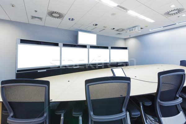 ビデオ 会議 ビジネス 営業会議 ルーム 画面 ストックフォト © FrameAngel