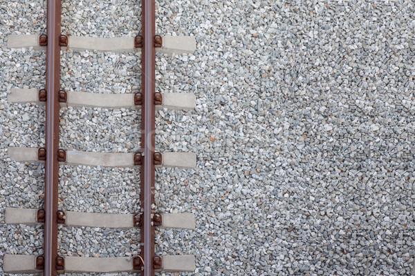 railway on gravel Stock photo © FrameAngel