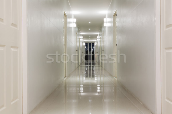 Empty Corridor Hallway, and room doors  Stock photo © FrameAngel