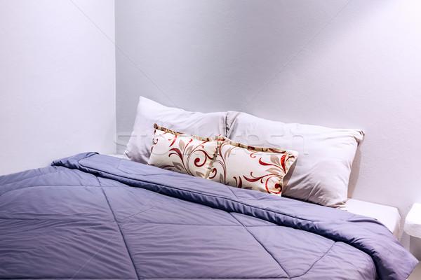 Twee slaapkamer deken hout ontwerp Stockfoto © FrameAngel