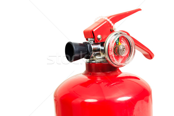 fire extinguisher and head gauge isolate on white background Stock photo © FrameAngel