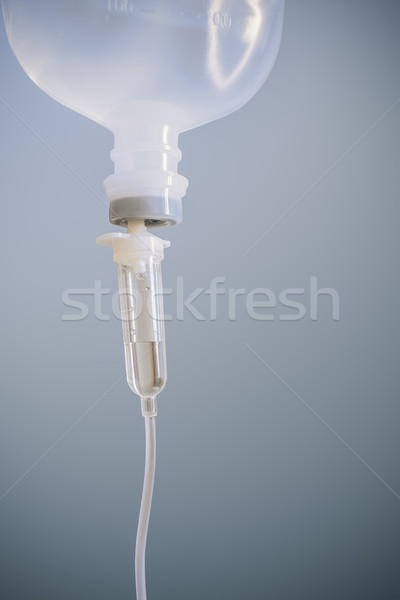 Infusion bottle with saline solution Stock photo © FrameAngel
