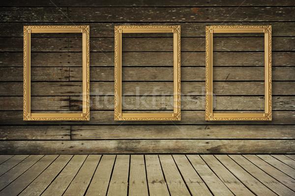 Vecchio stanza vuota cornice casa texture Foto d'archivio © FrameAngel