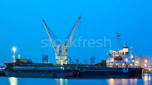 контейнера грузовое судно транспорт импортный экспорт порт Сток-фото © FrameAngel