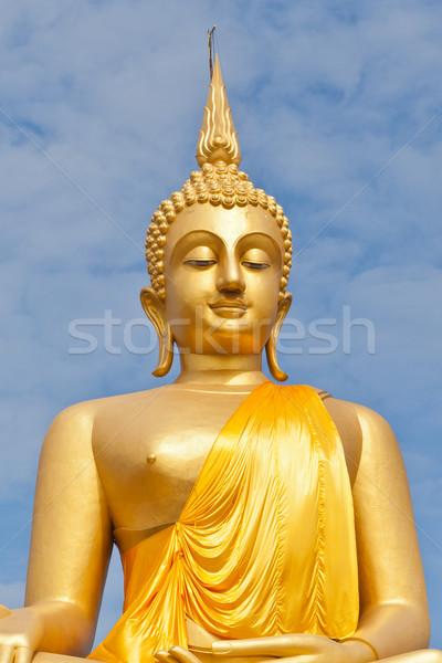 Big Golden Buddha statue in Thaland temple  Stock photo © FrameAngel