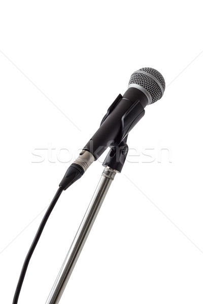 Microphone and stand isolated on white background Stock photo © FrameAngel