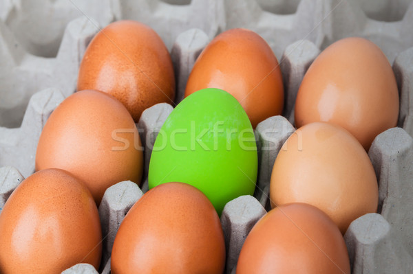 green color eggs on crate for holiday easter festival, can use a Stock photo © FrameAngel