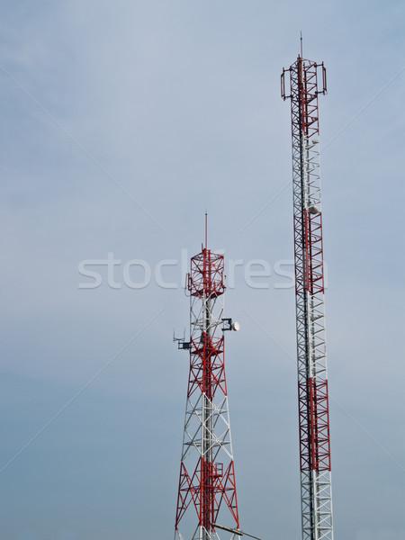 Cellulare comunicazione antenna torre televisione costruzione Foto d'archivio © FrameAngel