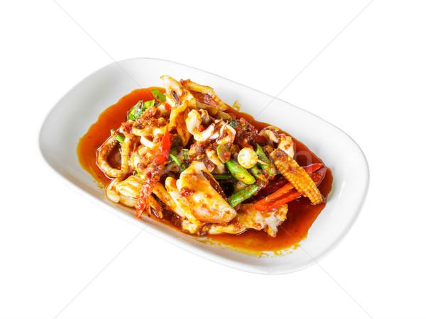 Thai food piccante calamari mista spezie piatto Foto d'archivio © FrameAngel
