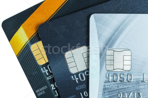 Creditcards internet financieren kaarten veilig verkoop Stockfoto © FrameAngel