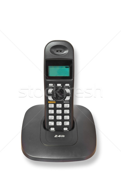 Cordless telephone 2.4GHz isolated Stock photo © FrameAngel